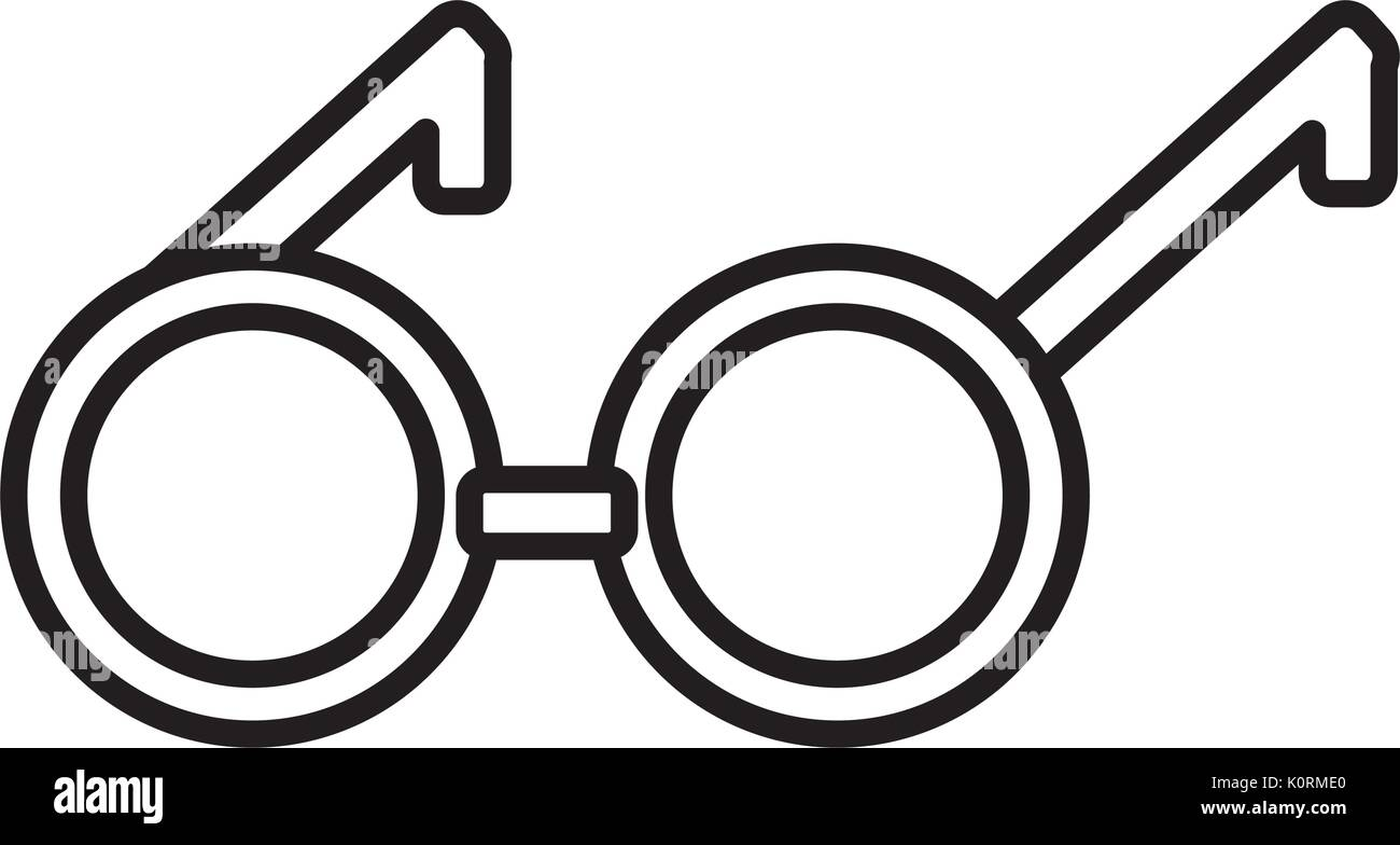 23932d57a759 round eyeglasses frame fashion old style linear - Stock Vector