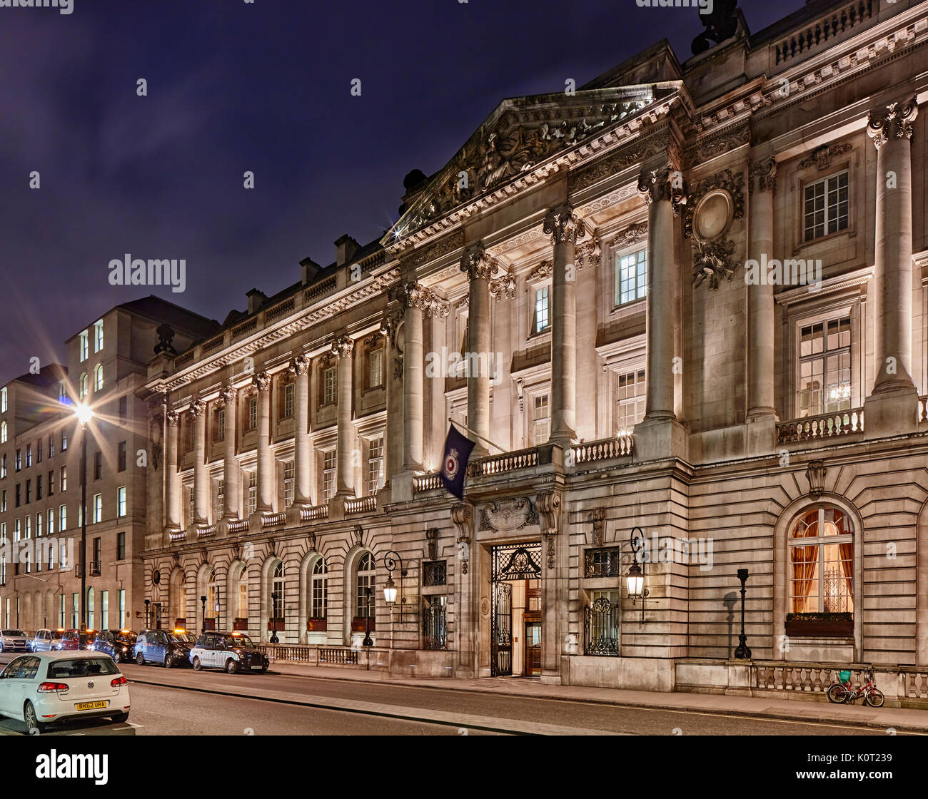 RAC Club - twilight, Pall Mall, London - Stock Image