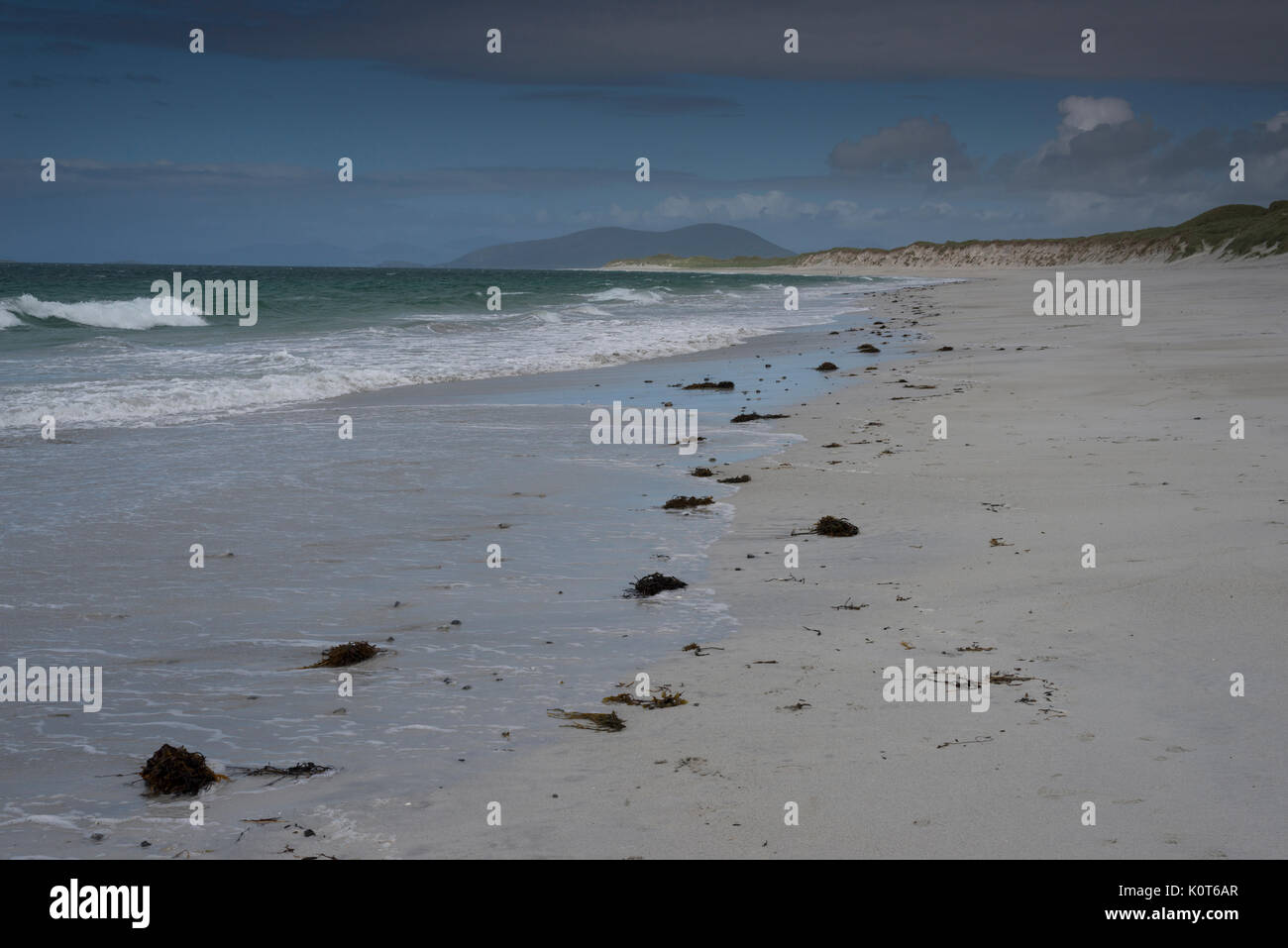 Berneray Beach Outer Hebrides - Stock Image