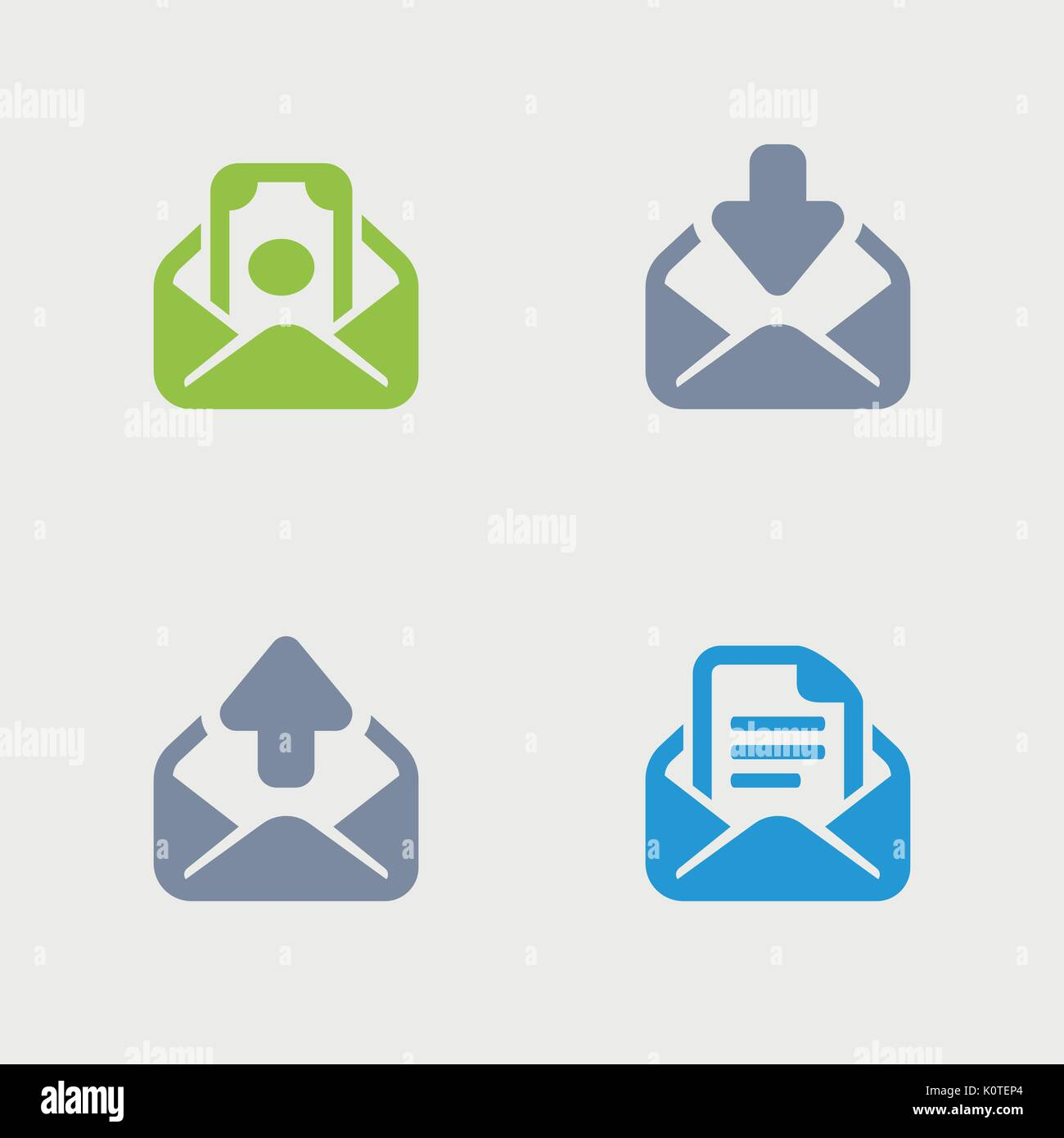 A set of 4 professional, pixel-perfect vector icons designed on a 32x32 pixel grid. - Stock Image
