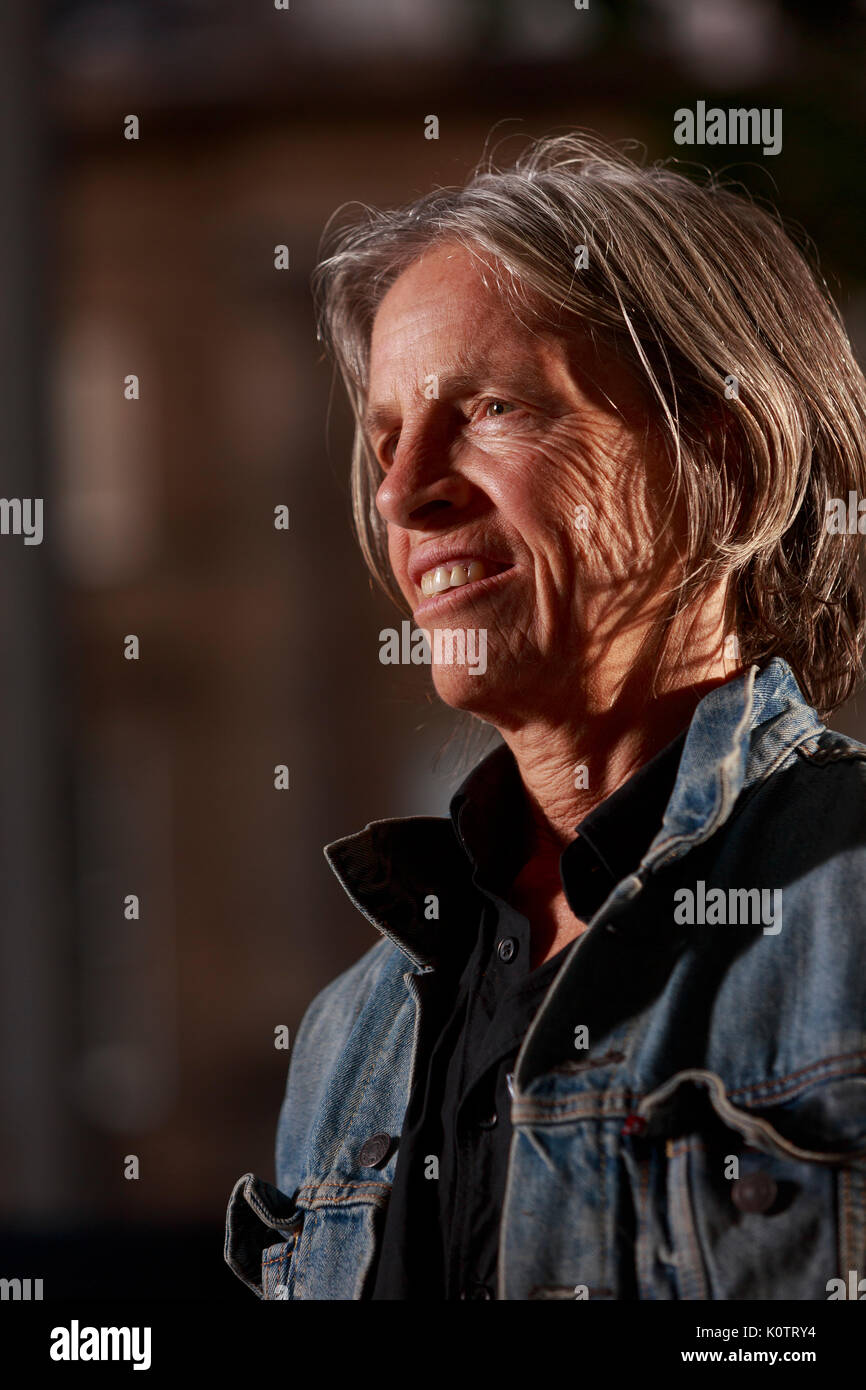 Edinburgh, Scotland, UK. 23rd Aug, 2017. Day 12 Edinburgh International Book Festival. Pictured: Eileen Myles, American poet and writer who has produced more than twenty volumes of poetry, fiction, nonfiction, libretti, plays, and performance pieces over the last three decades. Credit: Pako Mera/Alamy Live News - Stock Image