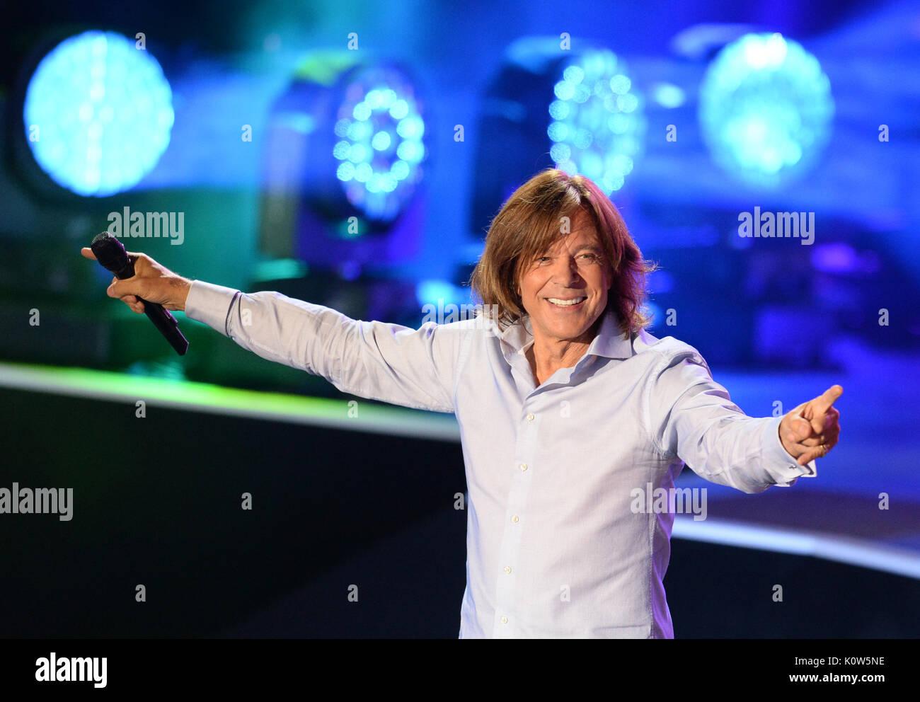 Singer Jurgen Drews standing onstage during the ZDF Summer