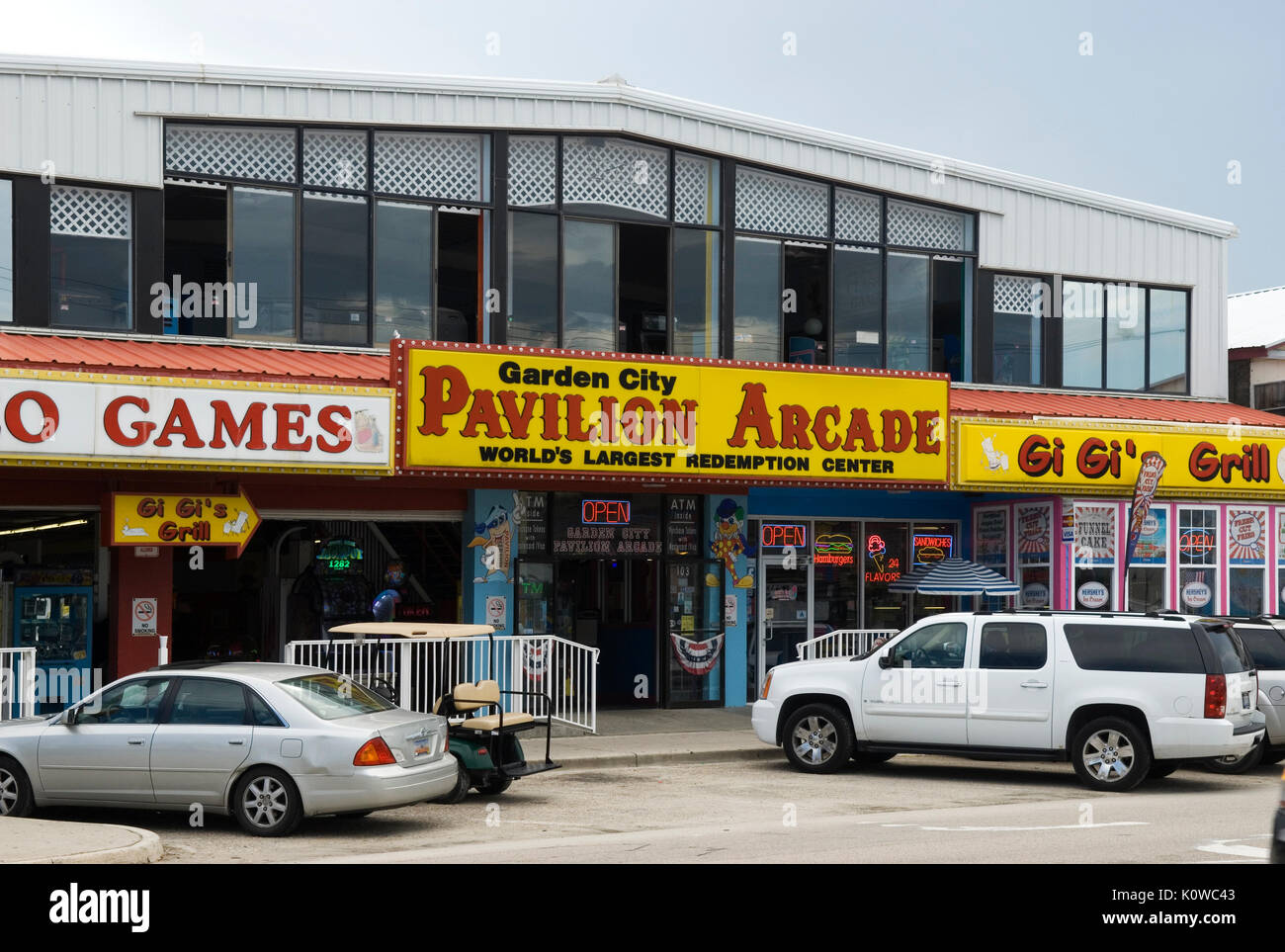 Pavilion Arcade Garden City South Carolina USA. - Stock Image