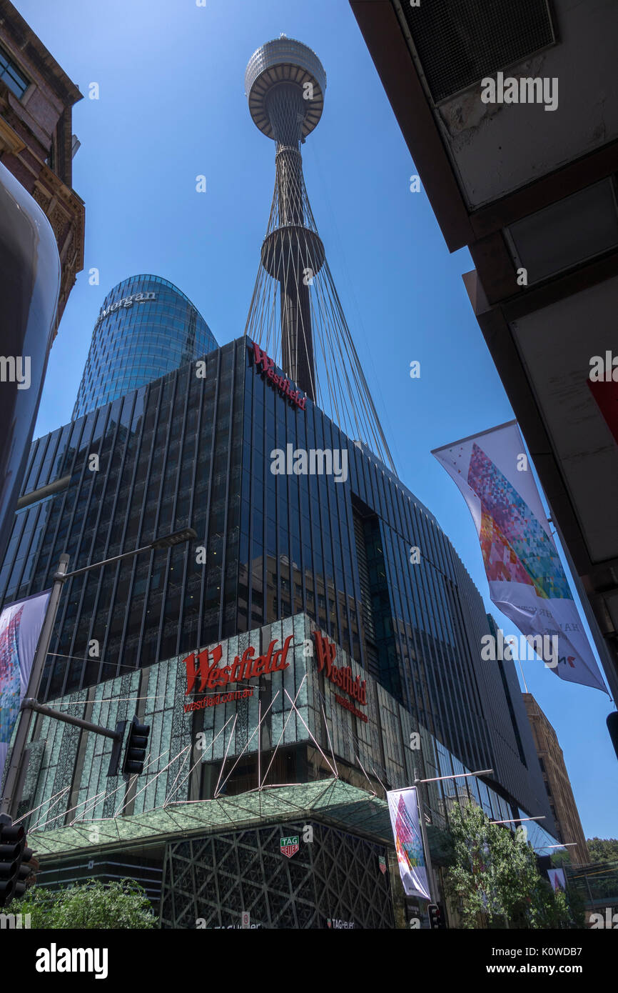 Westfield Sydney A Shopping Centre Mall Under The Sydney Tower Eye Australia - Stock Image