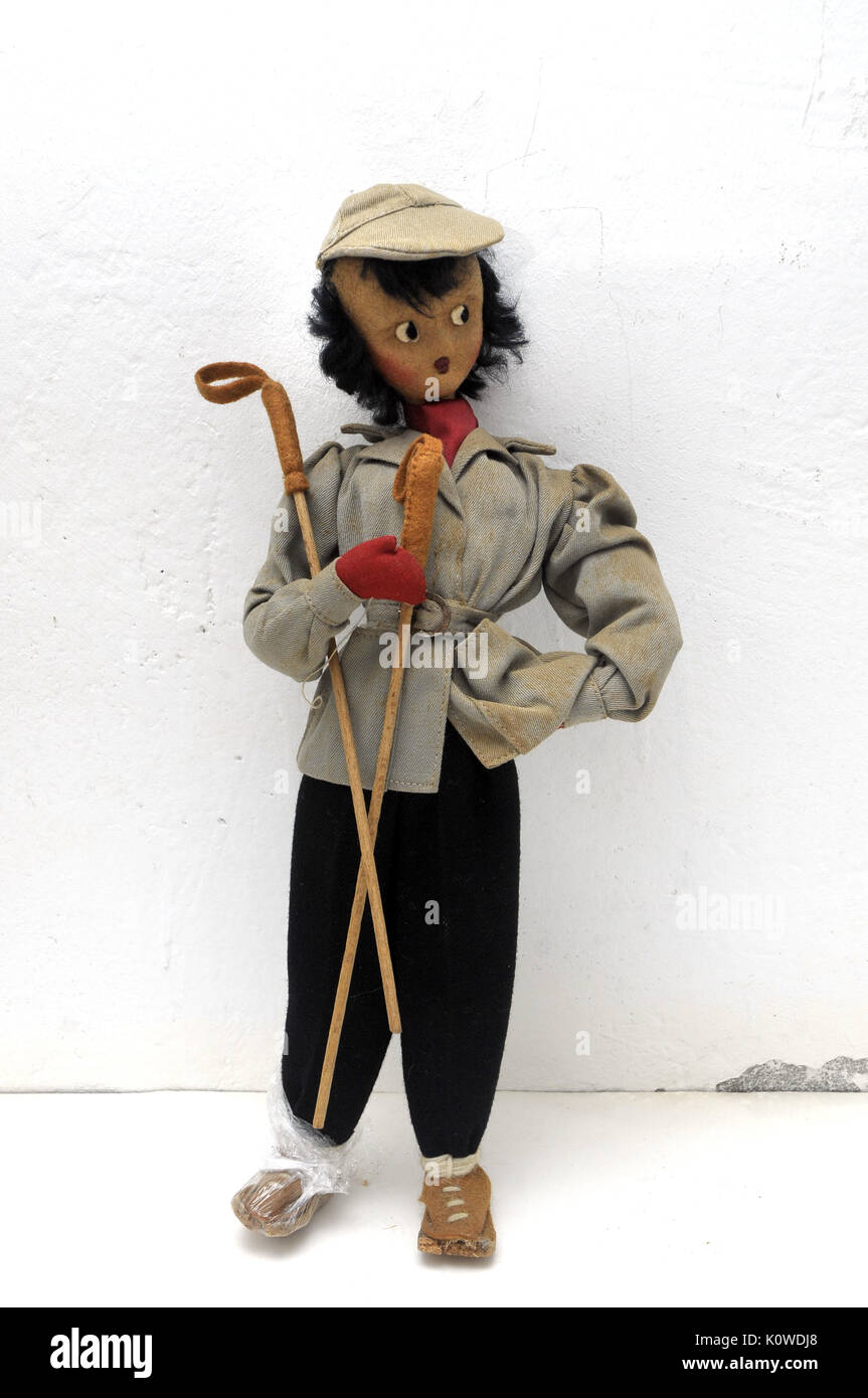 Old doll wire and rag - Stock Image