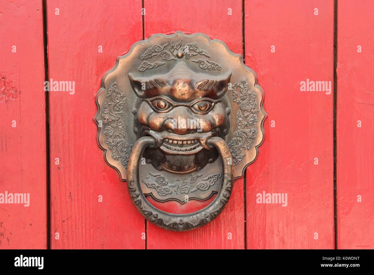 Chinese Deity door knocker - Stock Image & Chinese Demon Stock Photos u0026 Chinese Demon Stock Images - Alamy