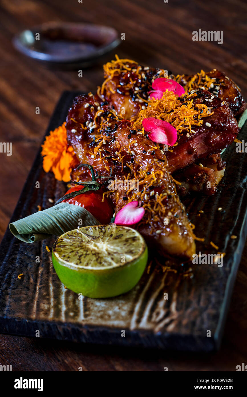 Pork Ribs Plate High Resolution Stock Photography And Images Alamy