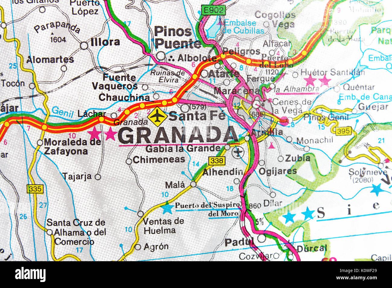 Granada Santa Fe map city map road map Stock Photo ... on page city map, edge city map, grants city map, loreto city map, tucumcari city map, las animas city map, curry county city map, cuenca city map, palenque city map, western north carolina city map, bainbridge island city map, ironwood city map, alvin city map, alachua county city map, nome city map, waxahachie city map, beeville city map, saint paul city map, laurinburg city map, twin cities area city map,