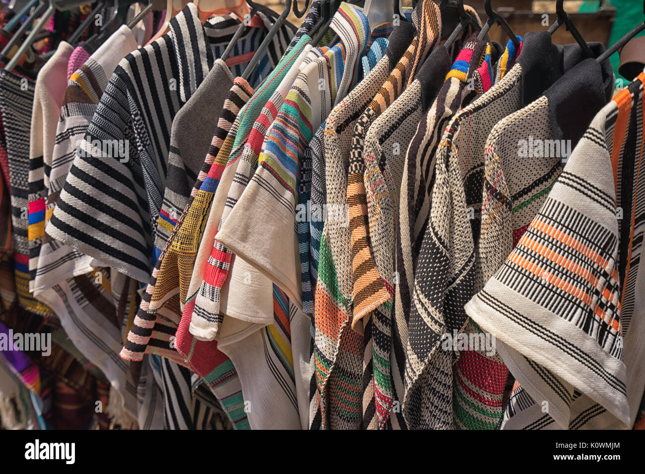 mens ponchos in Colombia - Stock Image