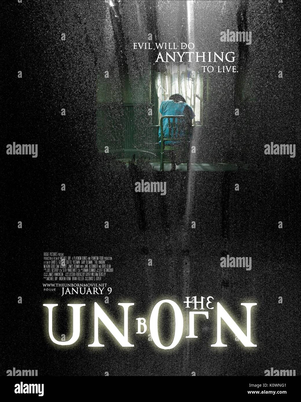 MOVIE POSTER THE UNBORN (2009) Stock Photo