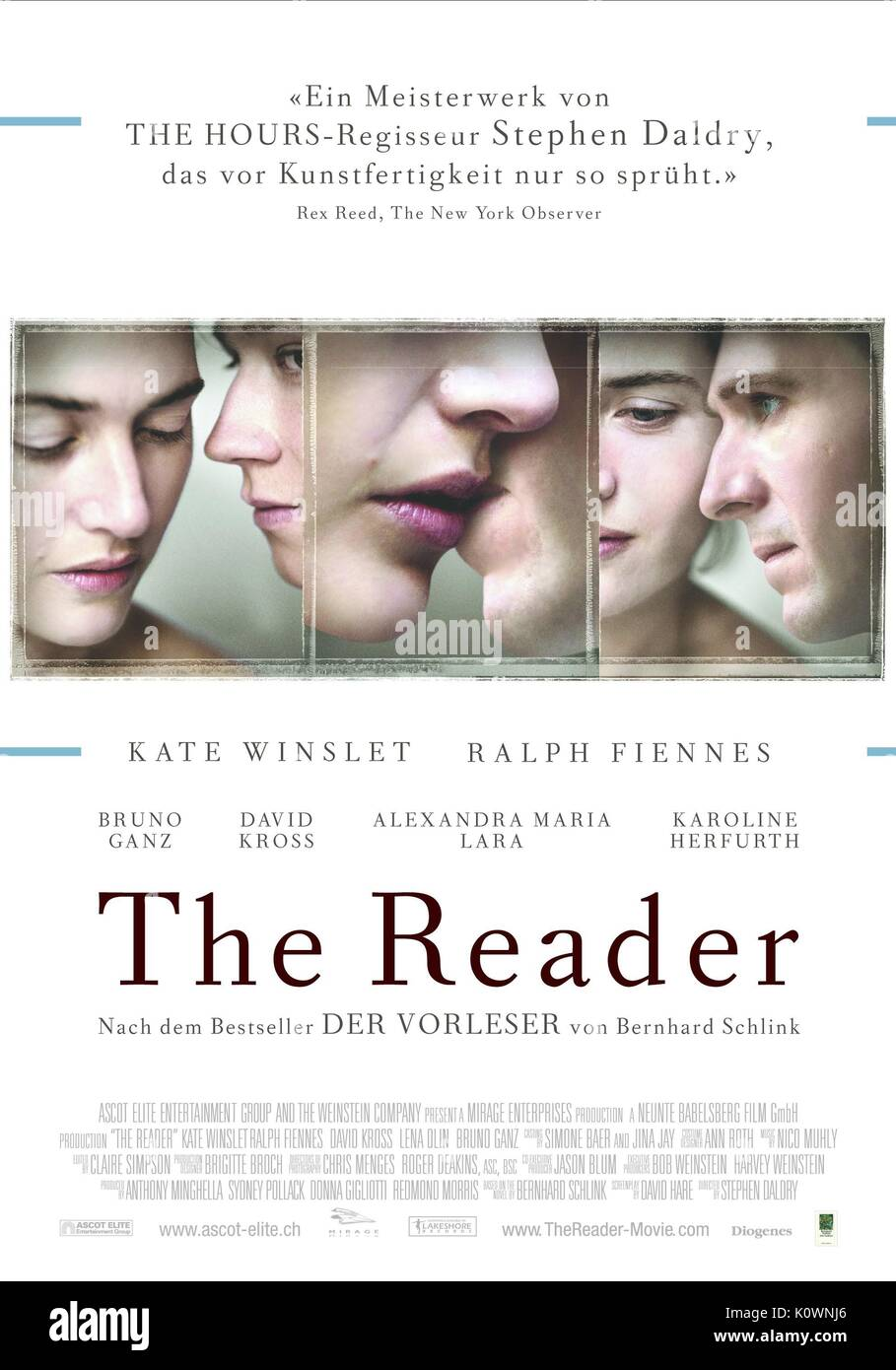 MOVIE POSTER THE READER (2008) - Stock Image