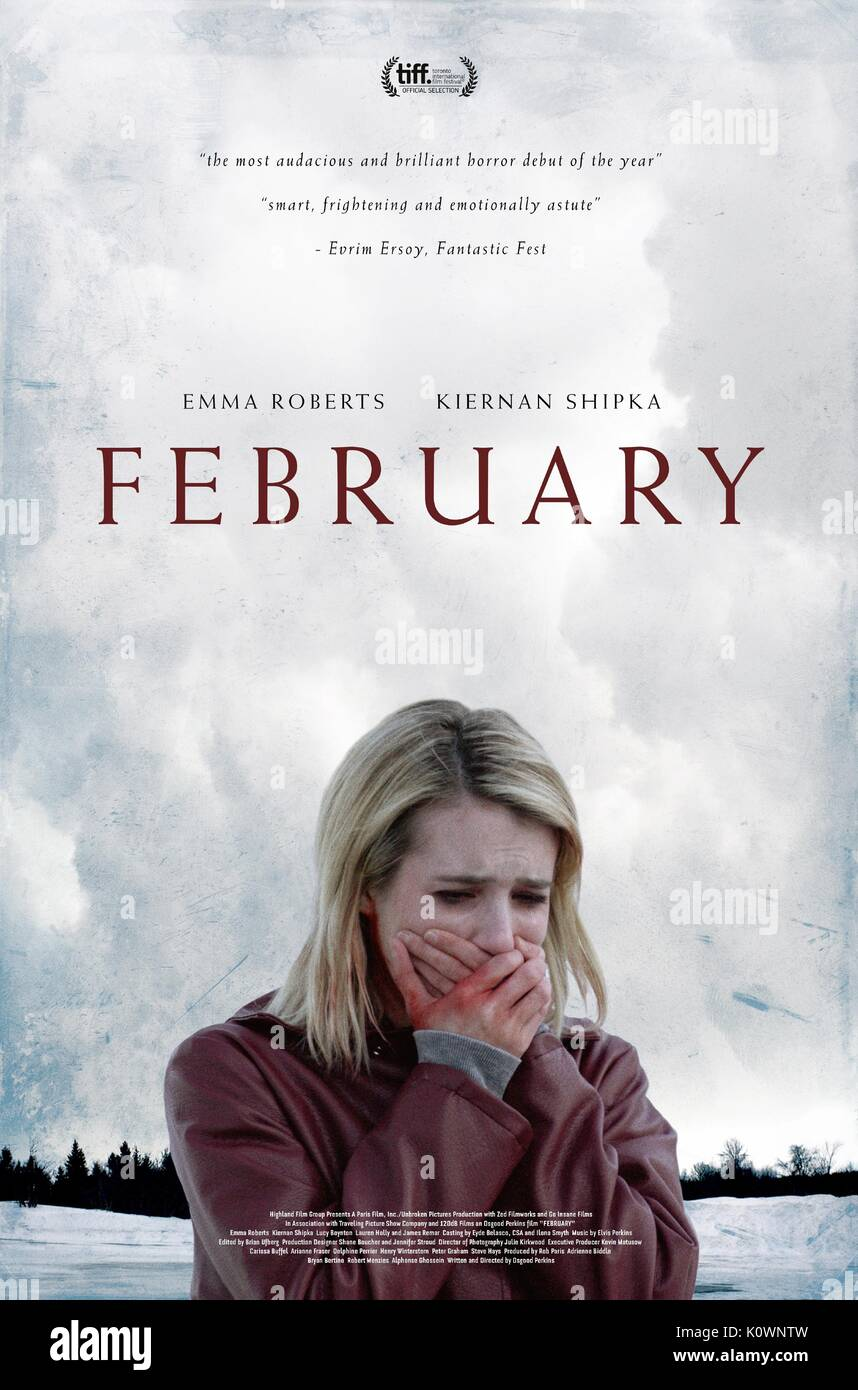 Emma Roberts Poster February The Blackcoat S Daughter 2015 Stock Photo Alamy