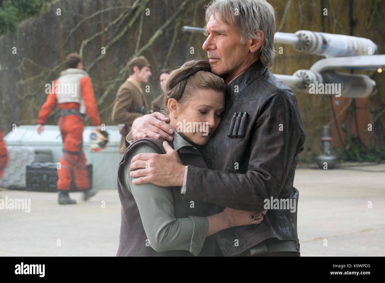 CARRIE FISHER & HARRISON FORD STAR WARS: EPISODE VII - THE FORCE AWAKENS (2015) - Stock Image
