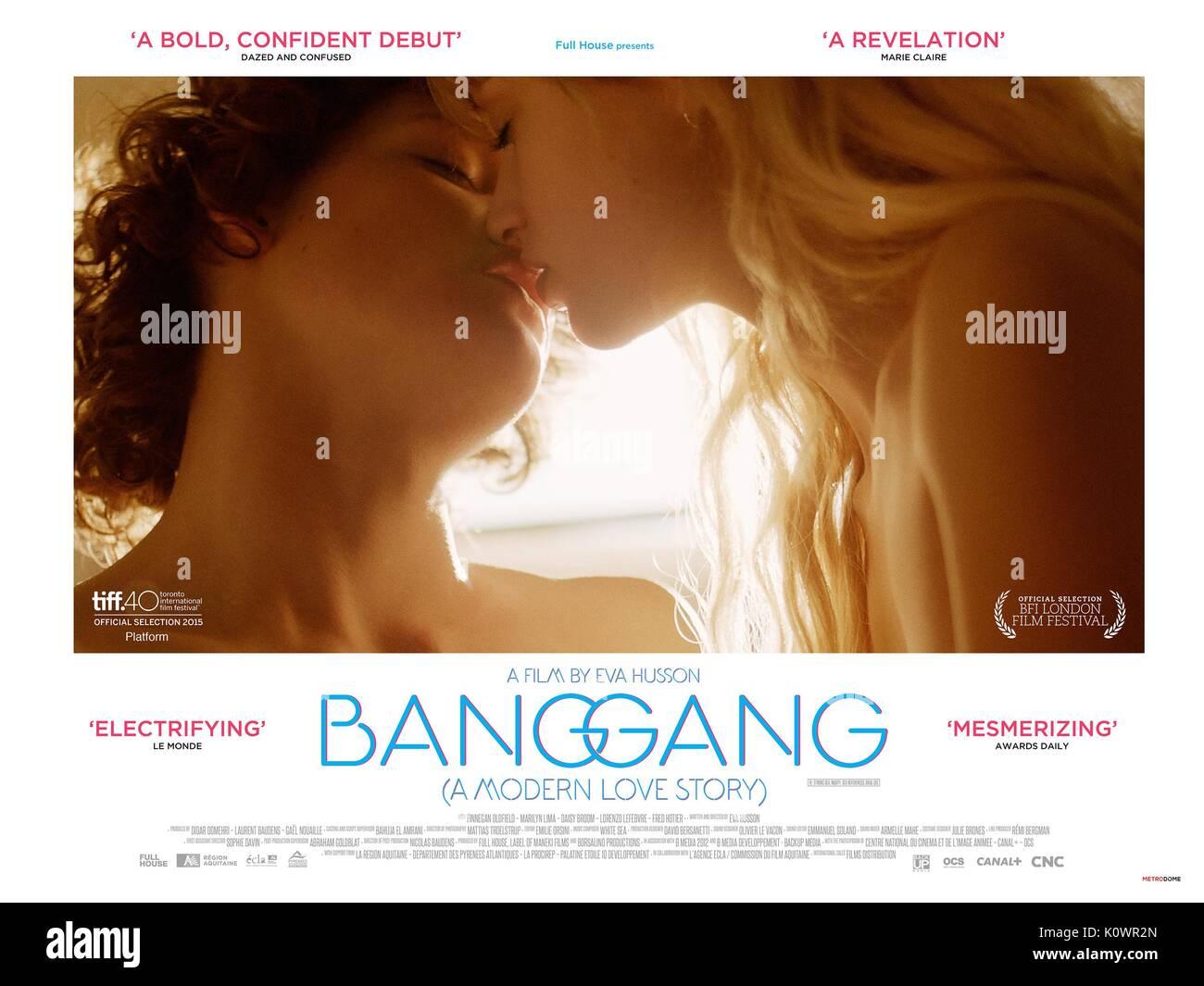 MOVIE POSTER BANG GANG (A MODERN LOVE STORY) (2015) - Stock Image