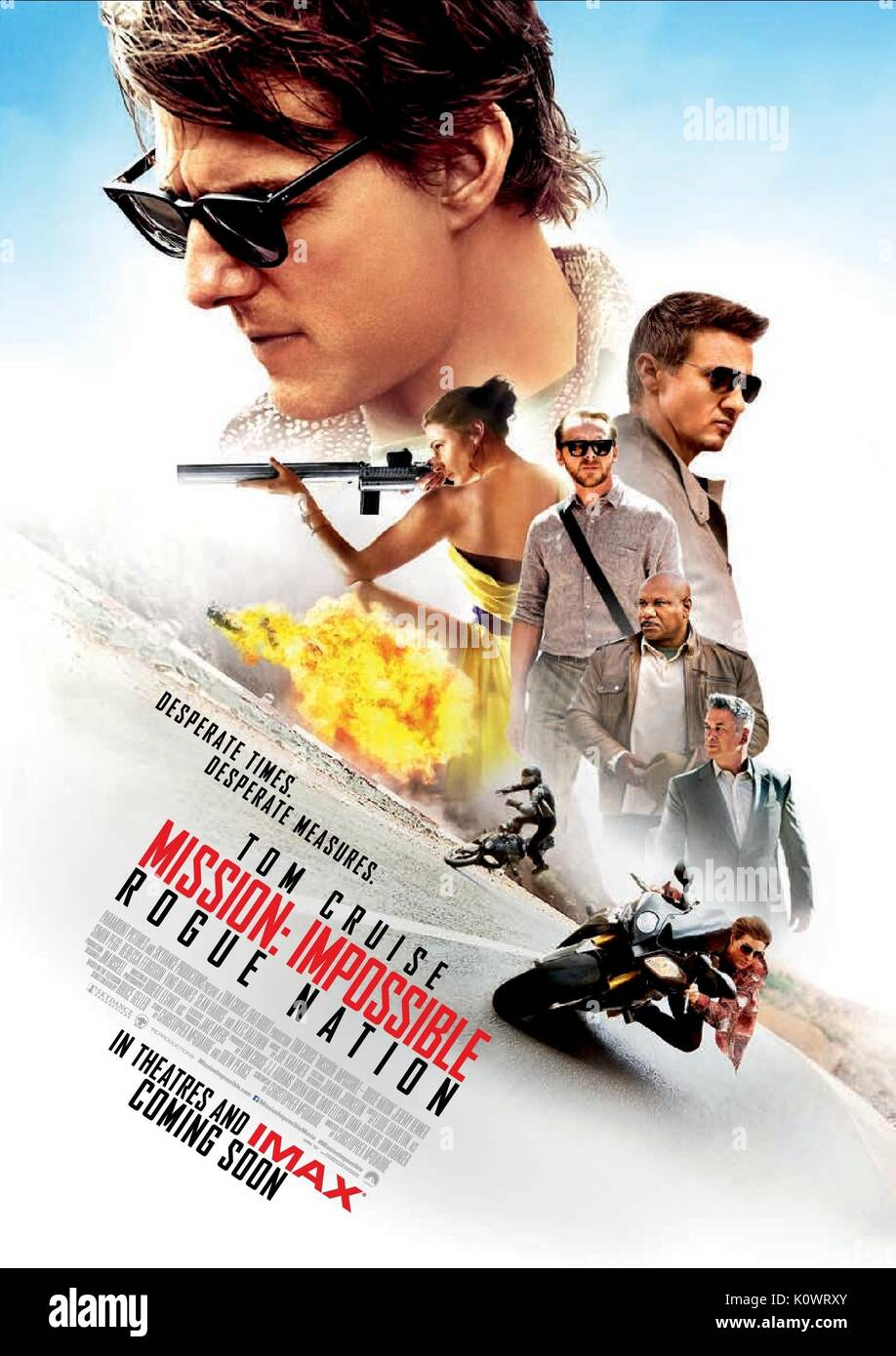 TOM CRUISE & JEREMY RENNER MOVIE POSTER MISSION: IMPOSSIBLE