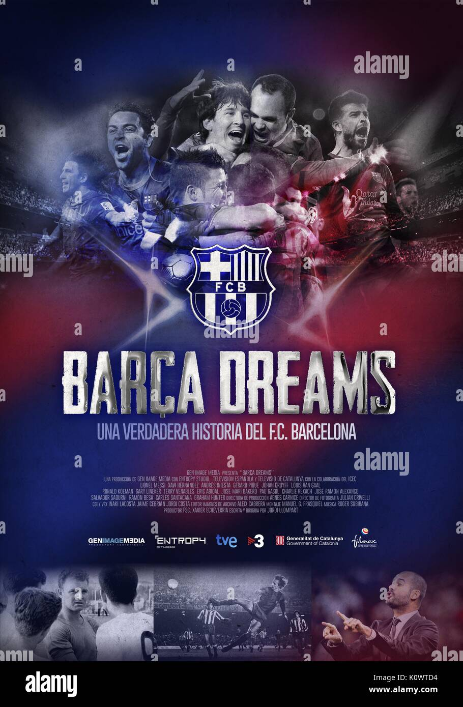 MOVIE POSTER BARCA DREAMS (2015) - Stock Image
