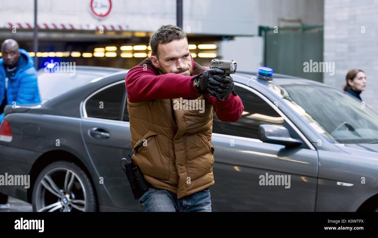 ALBAN LENOIR THE SWEENEY: PARIS; ANTIGANG (2015) - Stock Image