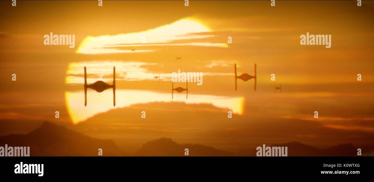 TIE FIGHTERS STAR WARS: EPISODE VII - THE FORCE AWAKENS (2015) - Stock Image