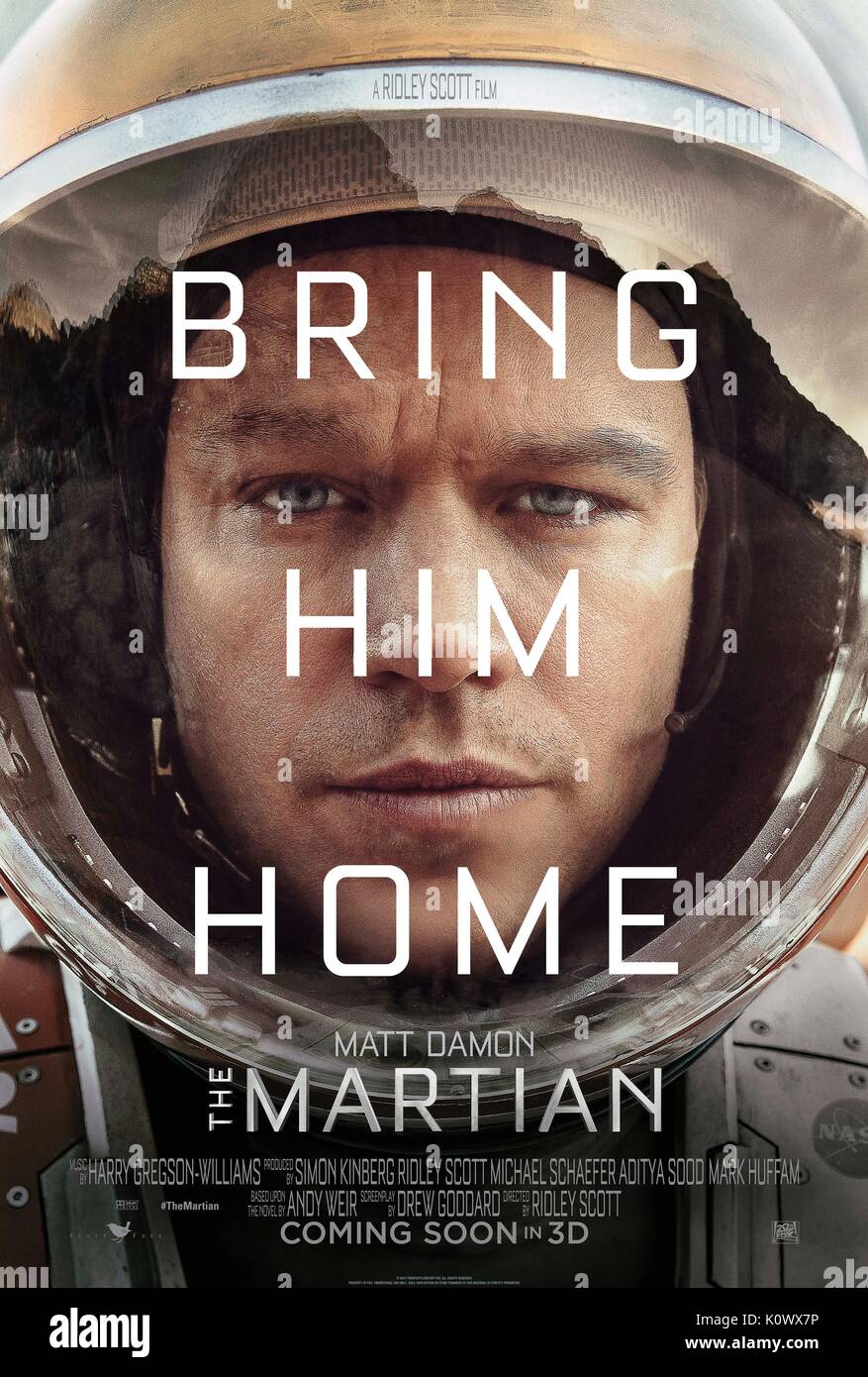 MATT DAMON POSTER THE MARTIAN (2015) - Stock Image