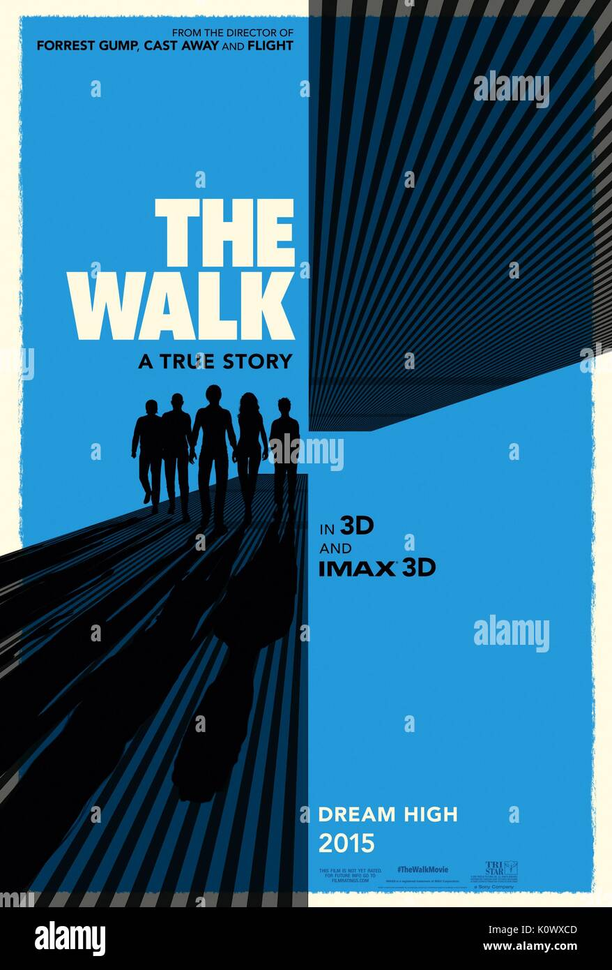 MOVIE POSTER THE WALK (2015) - Stock Image
