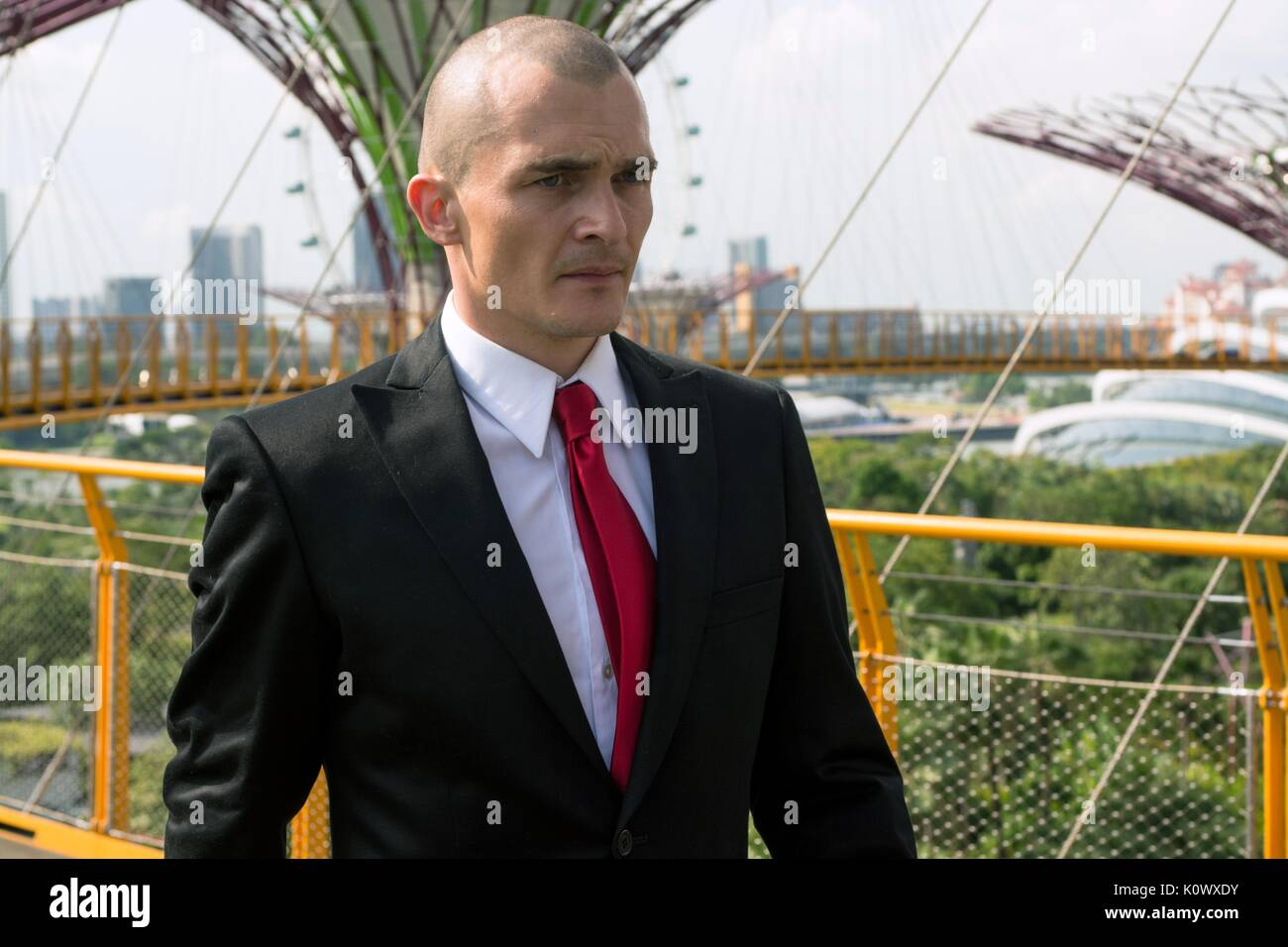 Rupert Friend Hitman Agent 47 2015 Stock Photo Alamy