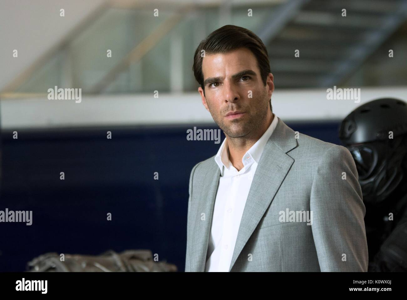 Zachary Quinto Hitman Agent 47 2015 Stock Photo Alamy