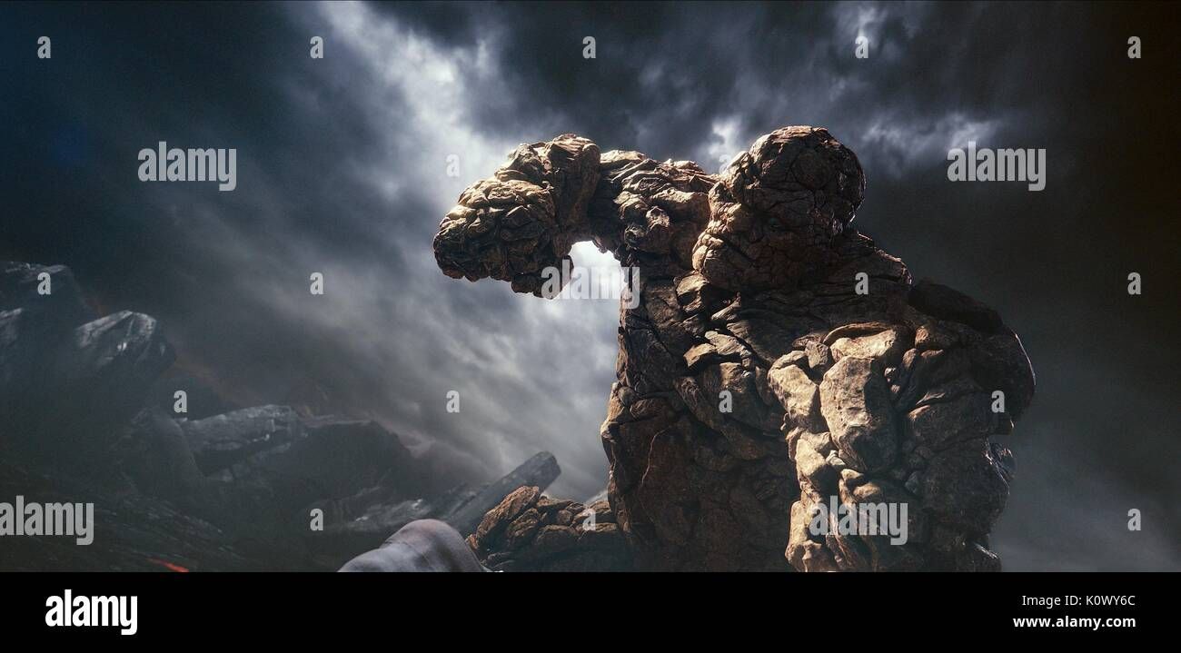 THE THING FANTASTIC FOUR (2015) - Stock Image