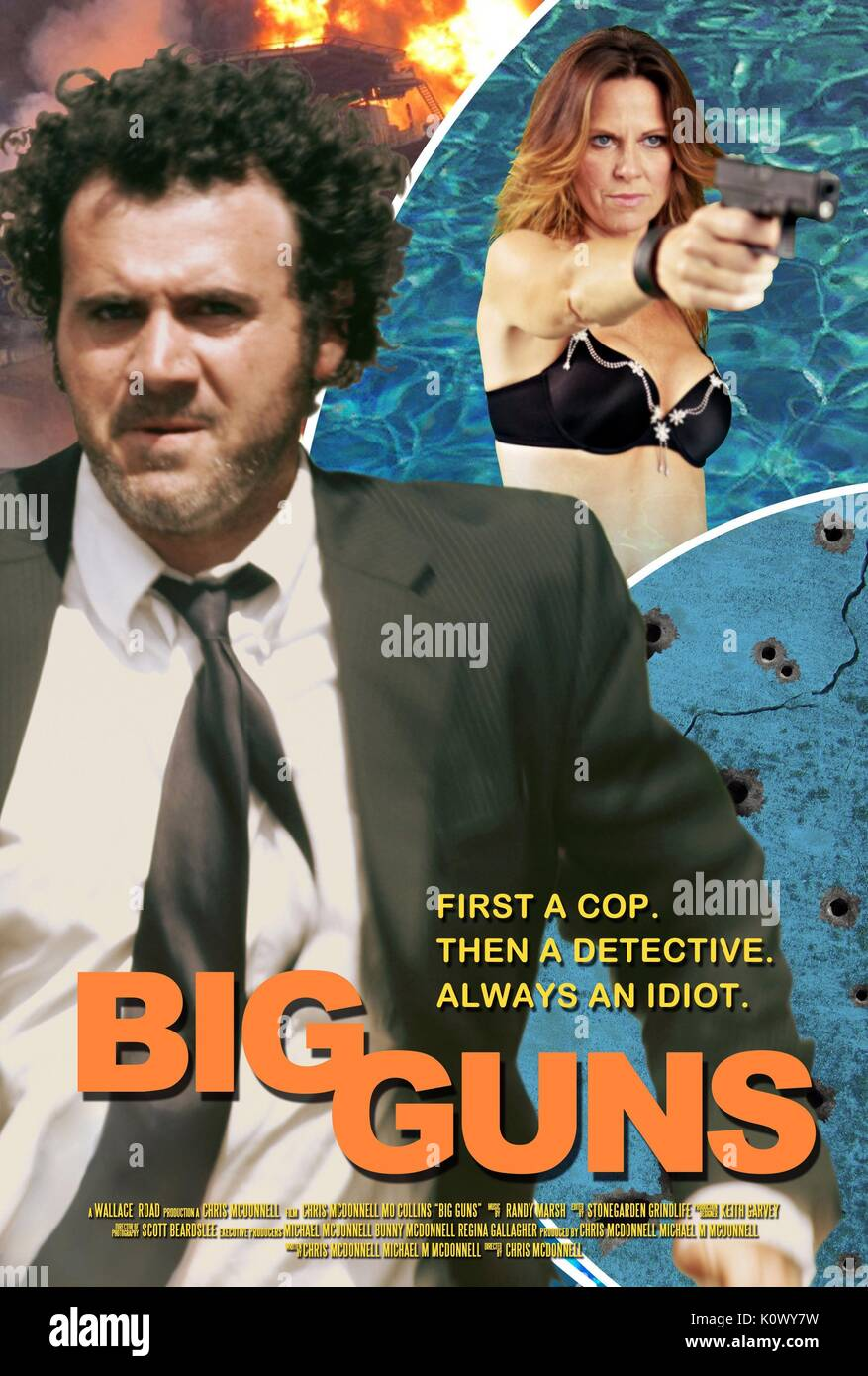 CHRIS MCDONNELL & MO COLLINS MCDICK; BIG GUNS (2015) - Stock Image