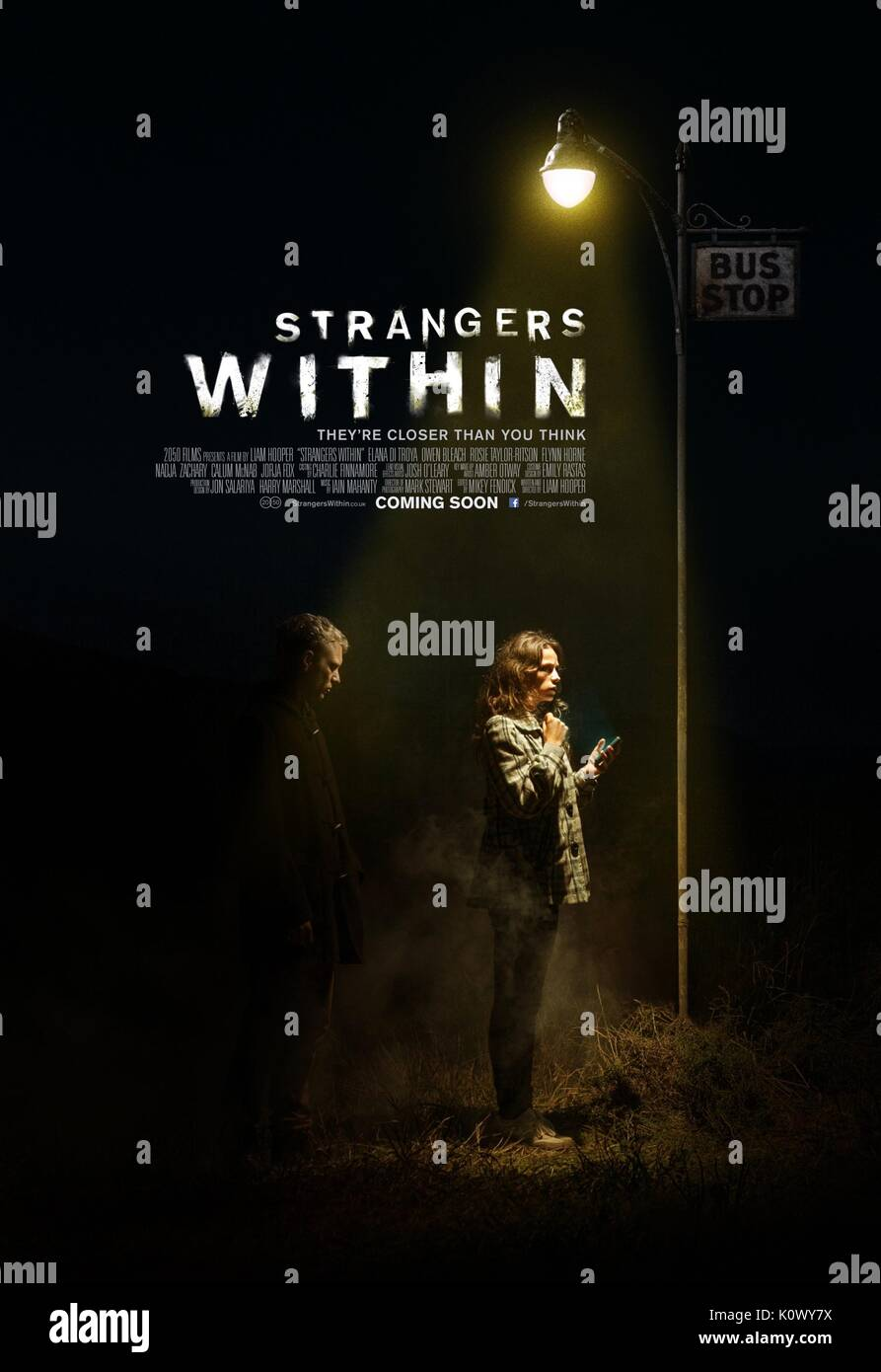 MOVIE POSTER STRANGERS WITHIN (2015) - Stock Image