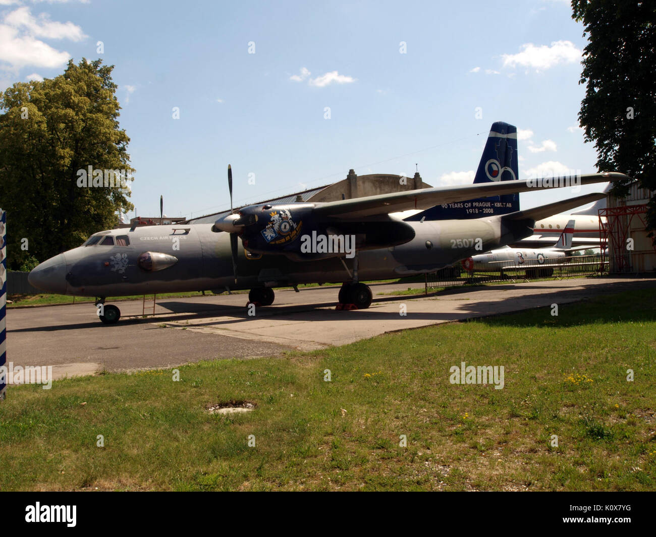 Antonov An 26 Czech airforce 2507 pic3 - Stock Image