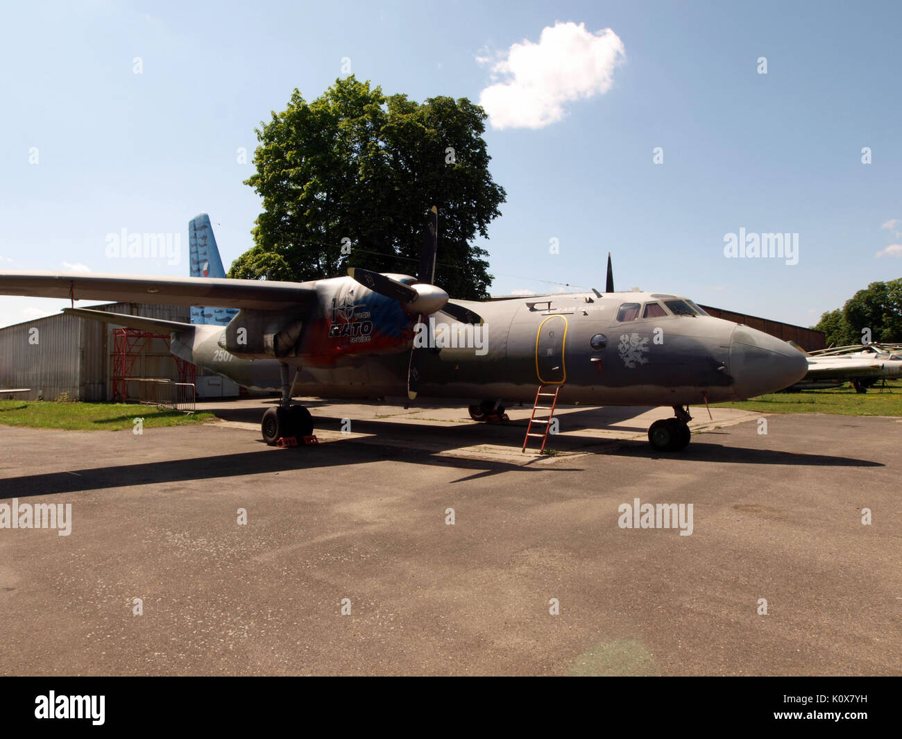 Antonov An 26 Czech airforce 2507 pic4 - Stock Image