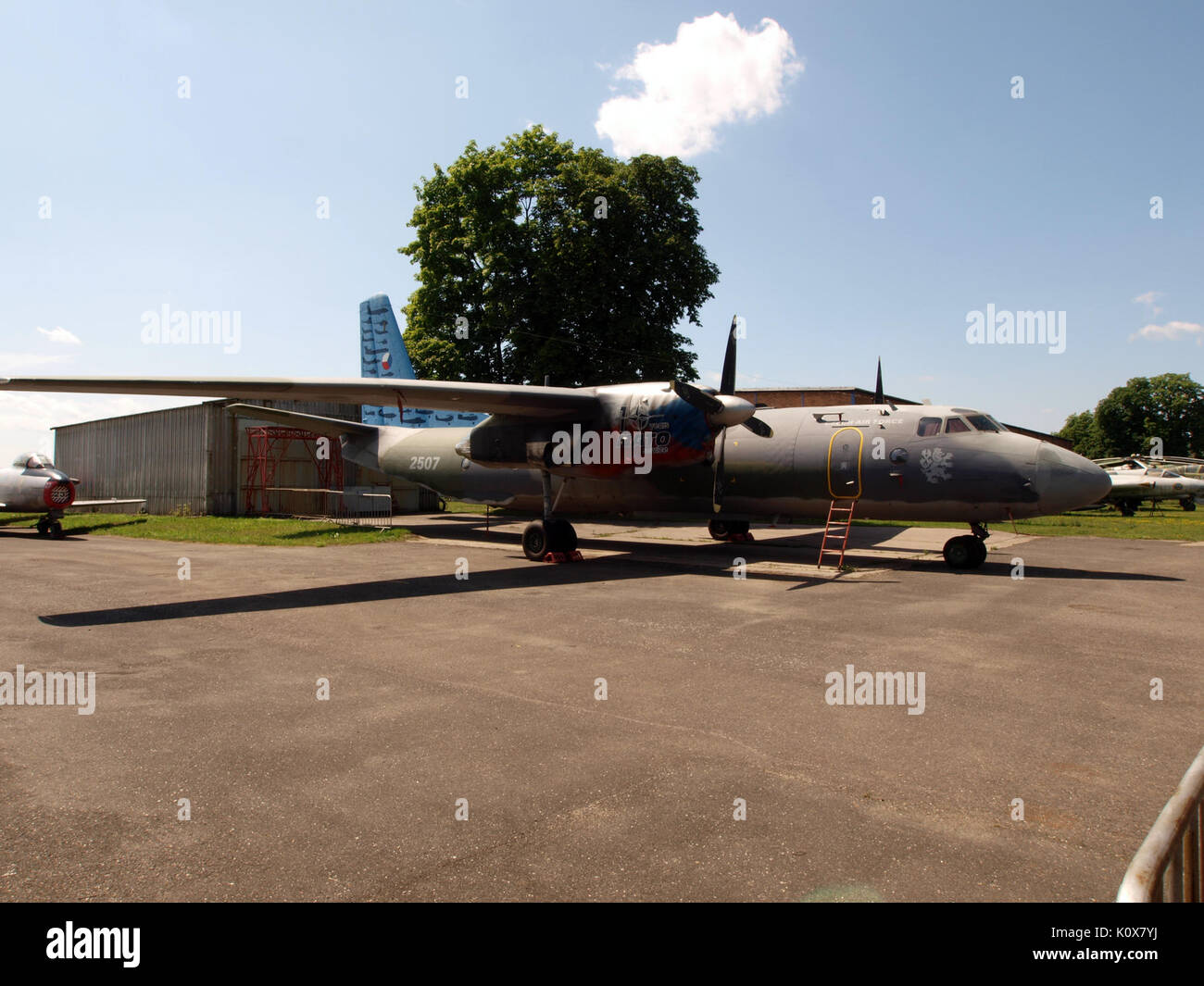 Antonov An 26 Czech airforce 2507 pic5 - Stock Image