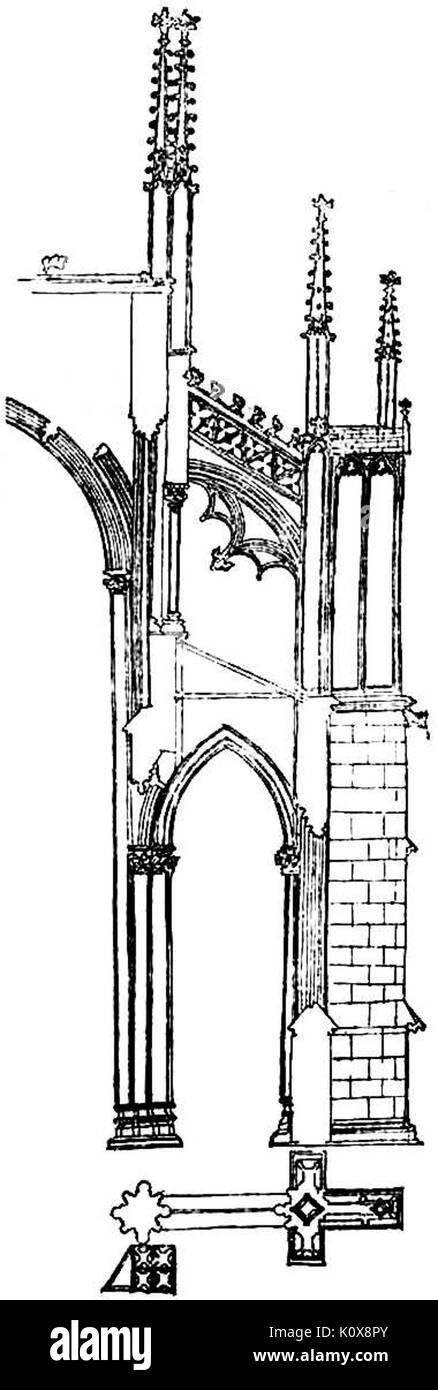 Beltrami   Per la Facciata del Duomo di Milano 0027 - Stock Image
