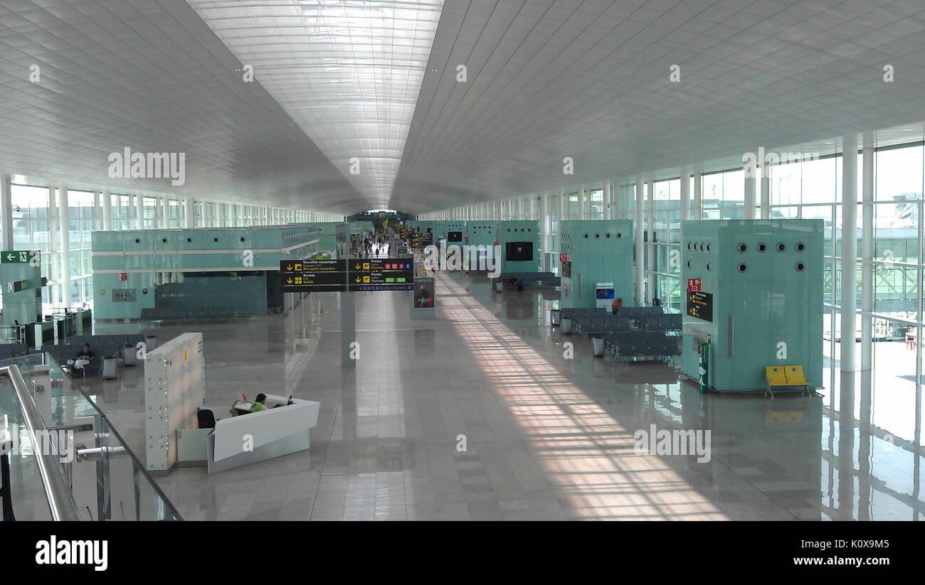 Airport Barcelona Terminal 1 003 - Stock Image