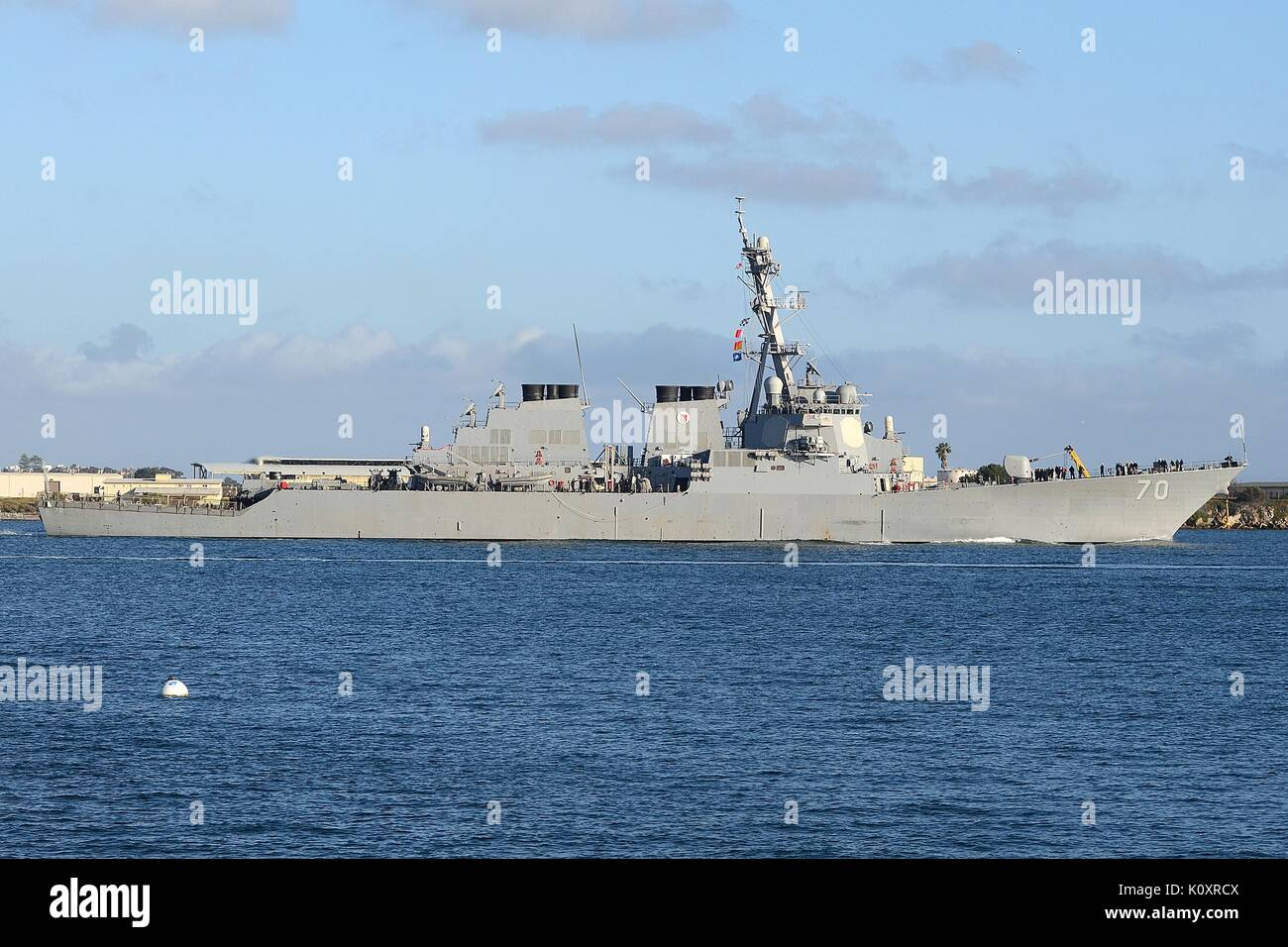 DDG-70 USS HOPPER, ARLEIGH BURKE CLASS GUIDED MISSILE DESTROYER OF THE U.S. NAVY - Stock Image