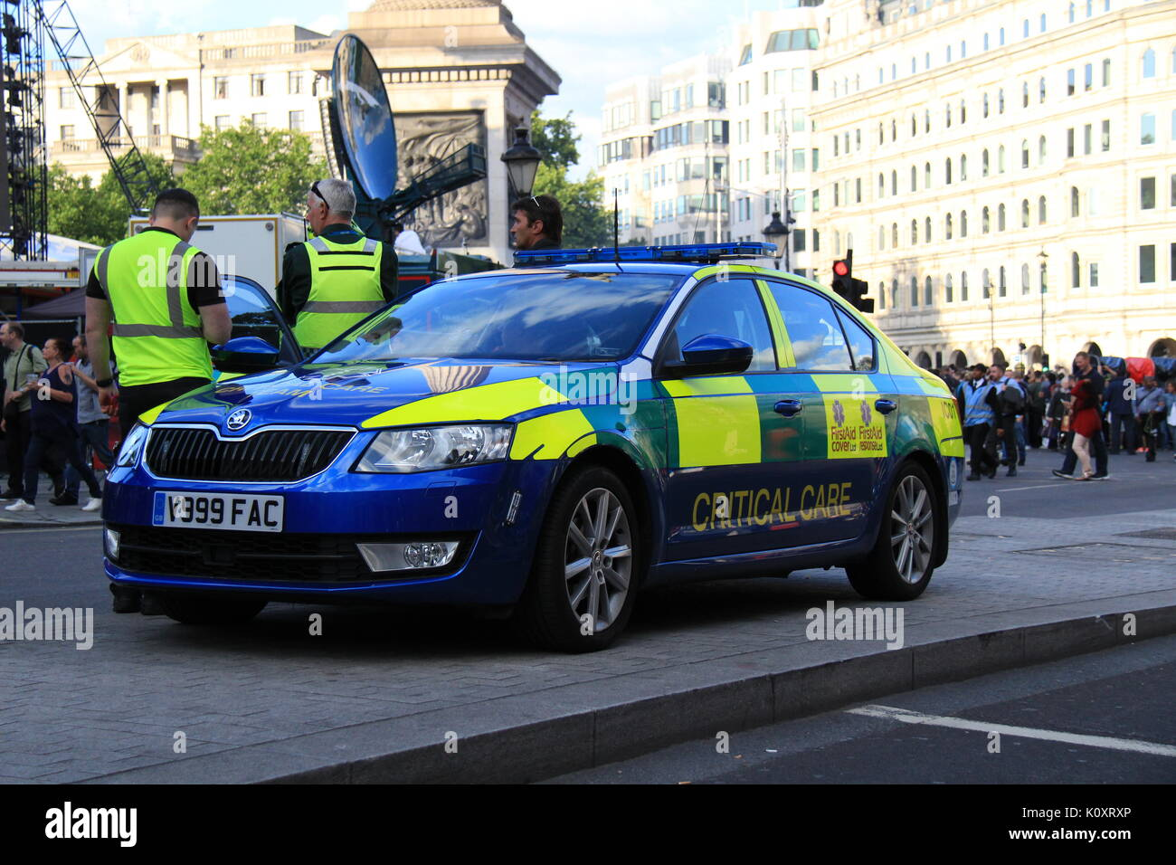 First Aid Cover Ltd Critical Care Response Car parked during the F1 Live London event - Stock Image