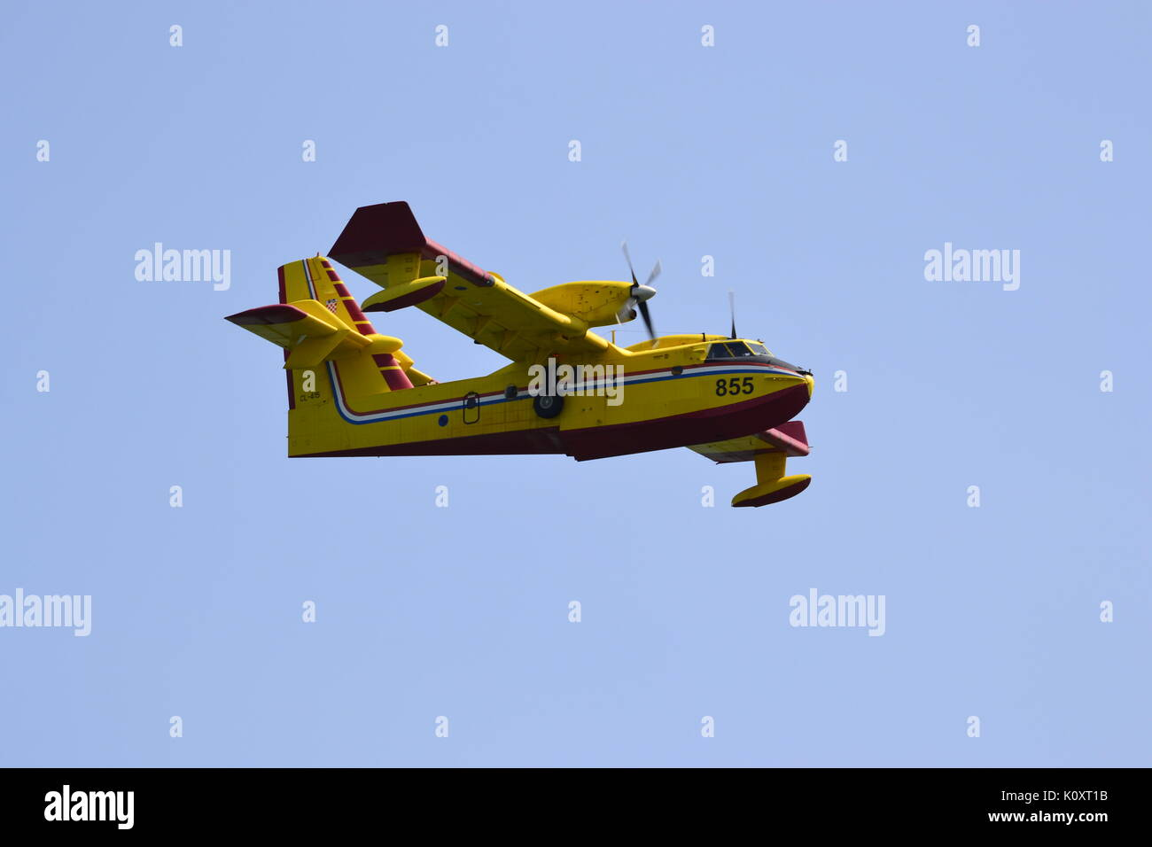 Amphibious firefighting aircraft Canadair CL-415 (Bombardier 415) - Stock Image