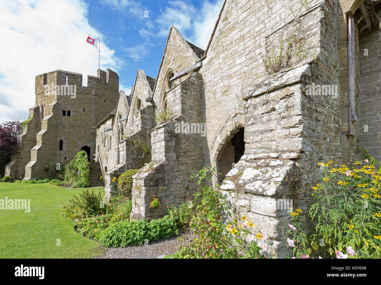 Stokesay Castle a medieval fortified manor houses, Shropshire, England, UK Stock Photo