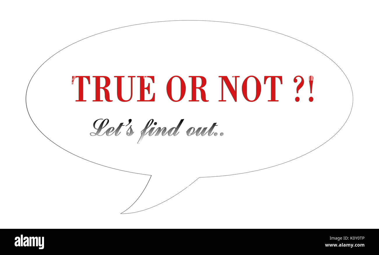 True or not question image background - Stock Image