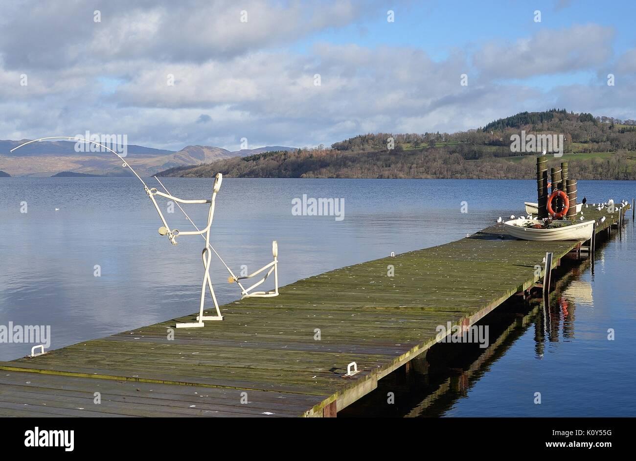 Duck Bay Marina >> Phantom Fishermen Duck Bay Marina Loch Lomond Stock Photo