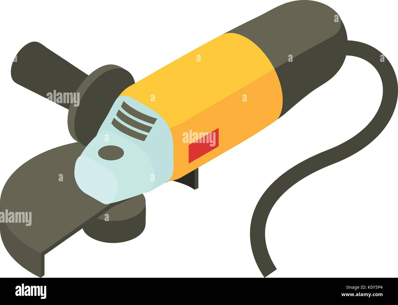 Electric sander icon, isometric 3d style - Stock Vector