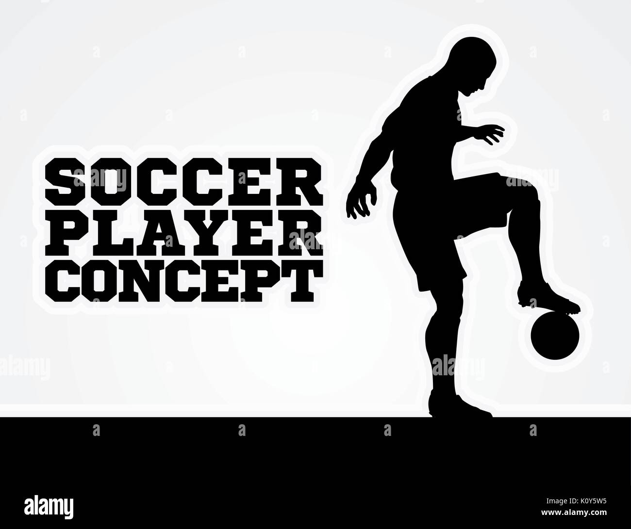 Soccer Football Player Concept Silhouette Stock Vector