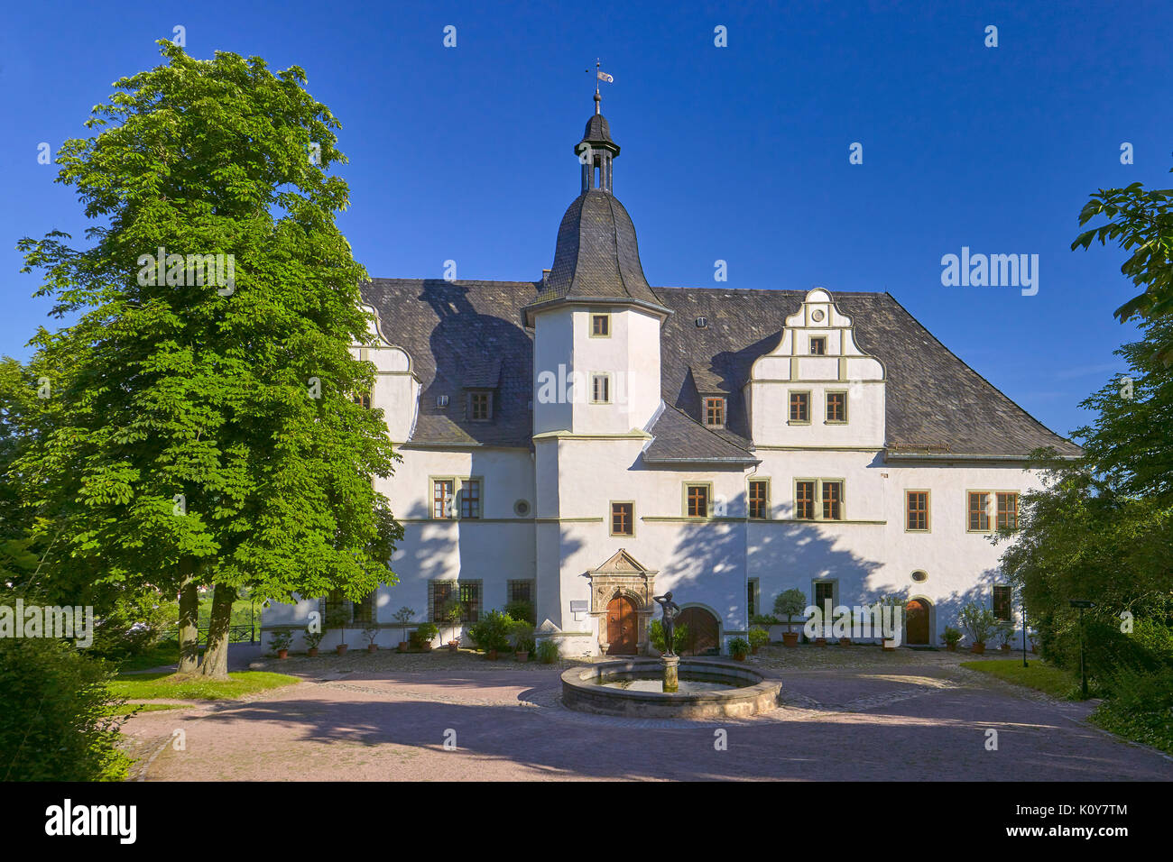 Renaissance castle of the Dornburg castles, Dornburg, Thuringia, Germany - Stock Image