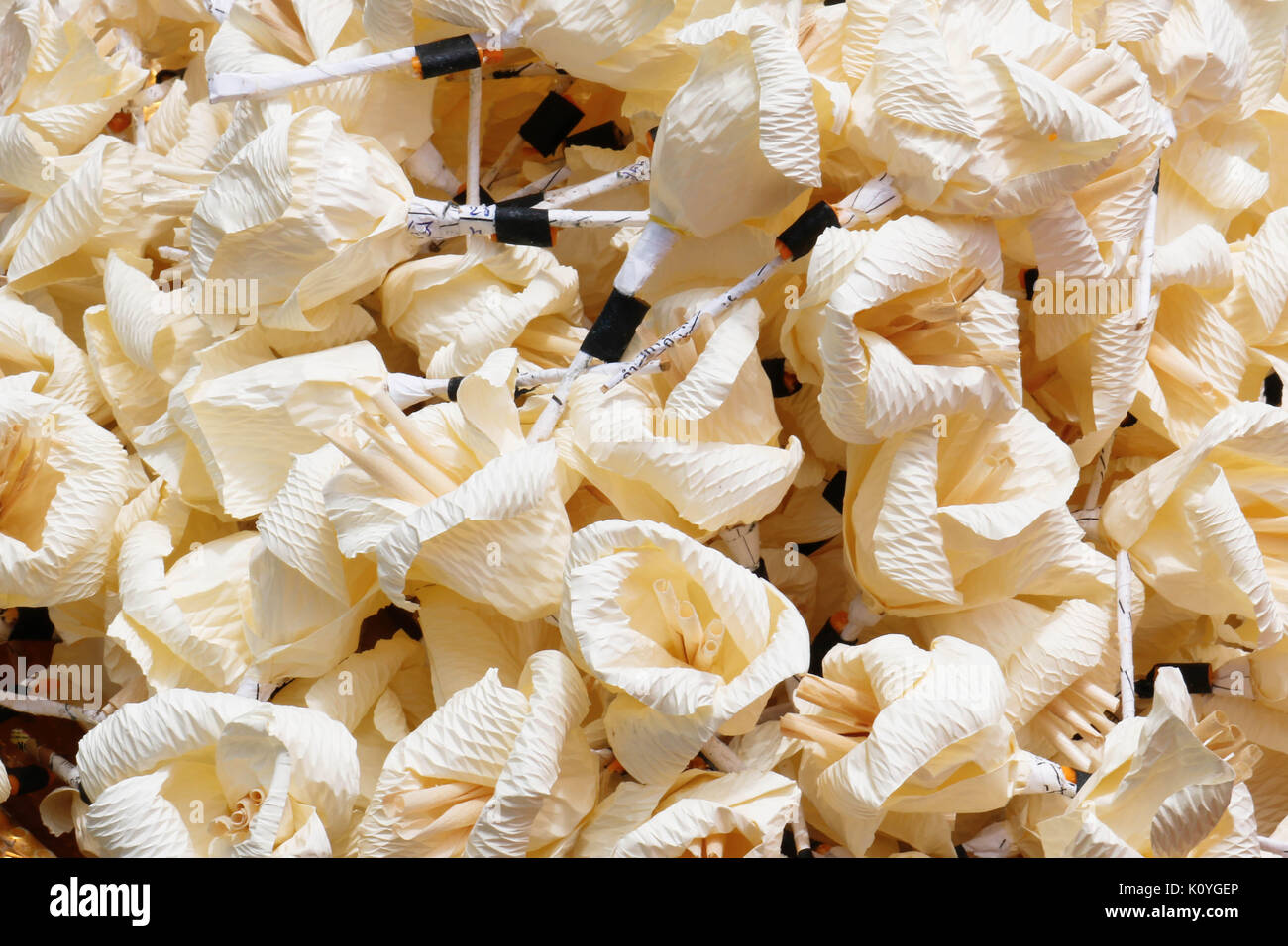 Buddhist funeral thailand stock photos buddhist funeral thailand white artifical flowers used during a funeral kind of wood flower to be izmirmasajfo