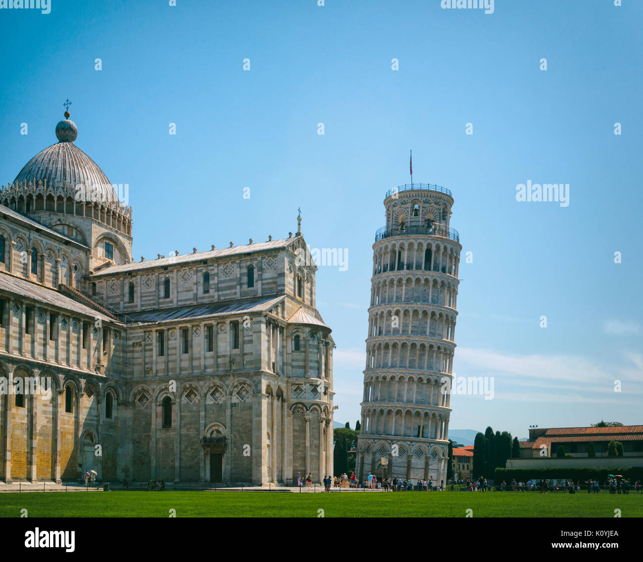 Pisa, Pisa Province, Tuscany, Italy.  Campo dei Miracoli, or Field of Miracles.  Also known as the Piazza del Duomo. Stock Photo