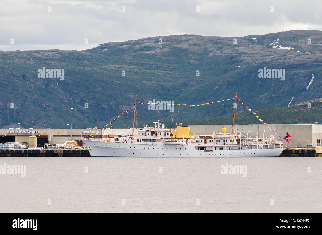 Kongeskipet, Norge, kingship, Norway, - Stock Image