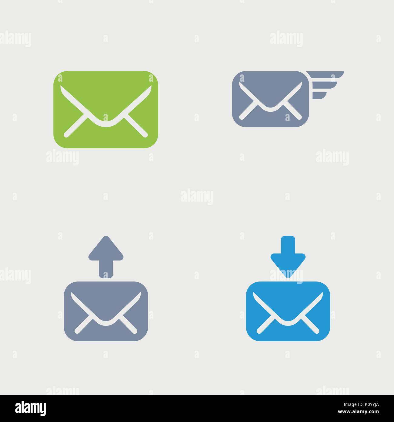 A set of 4 professional, pixel-perfect icons designed on a 32x32 pixel grid. - Stock Image