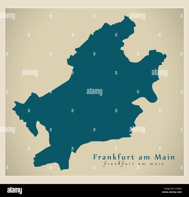 Map Of Germany Frankfurt.Modern City Map Frankfurt Am Main City Of Germany De Stock Vector