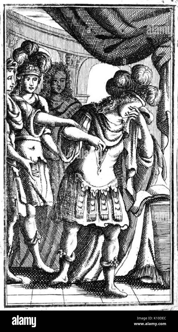 Antonio Vivaldi   Catone in Utica   picture of the libretto   Venice 1737 - Stock Image