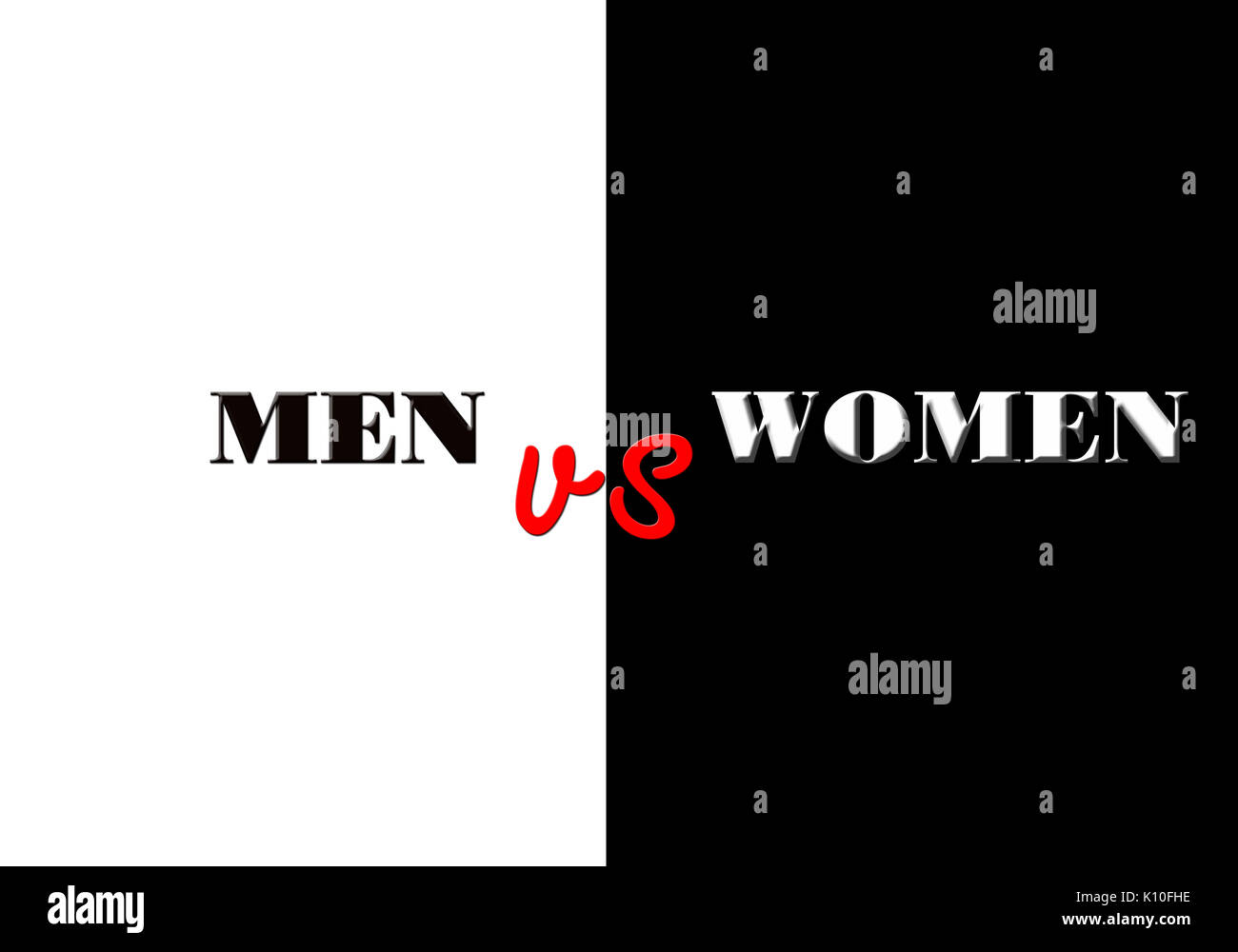 Men vs women background image design - Stock Image